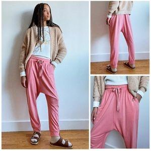 Anthropologie Saturday Sunday harem pink trousers